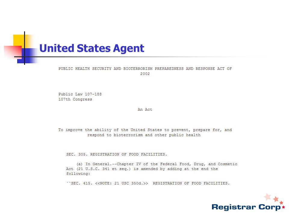 United States Agent ********