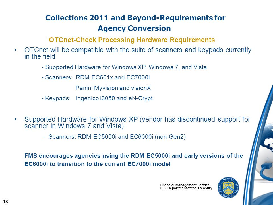 Collections 2011 and Beyond-Requirements for Agency Conversion Financial Management Service U.S.