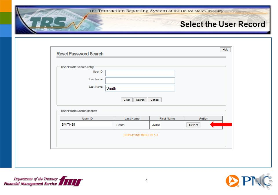 Select the User Record 4