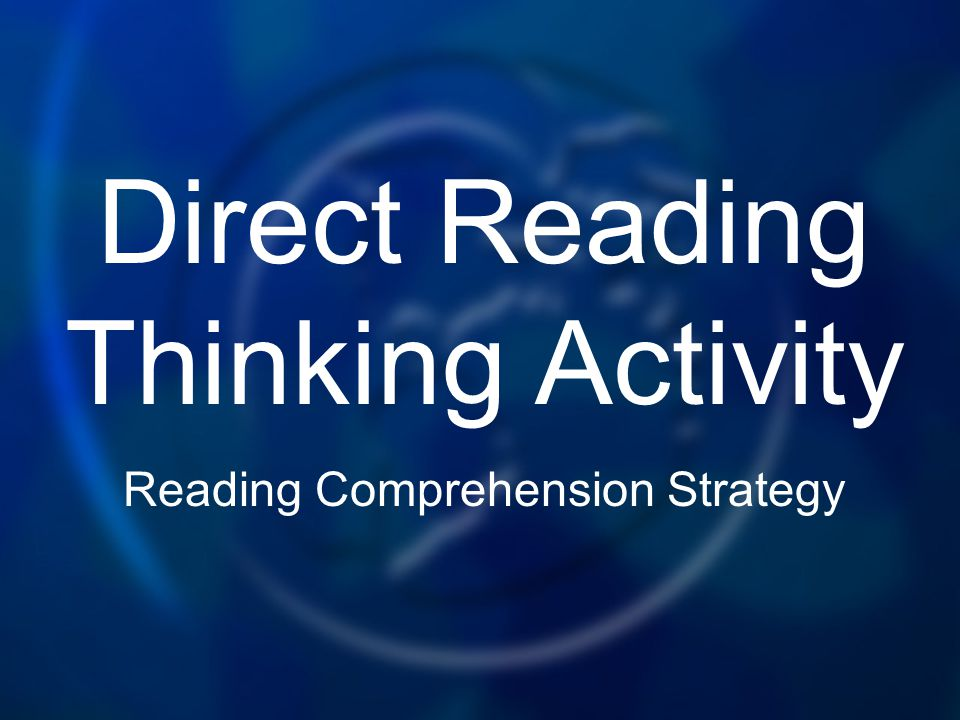 Direct Reading Thinking Activity Reading Comprehension Strategy