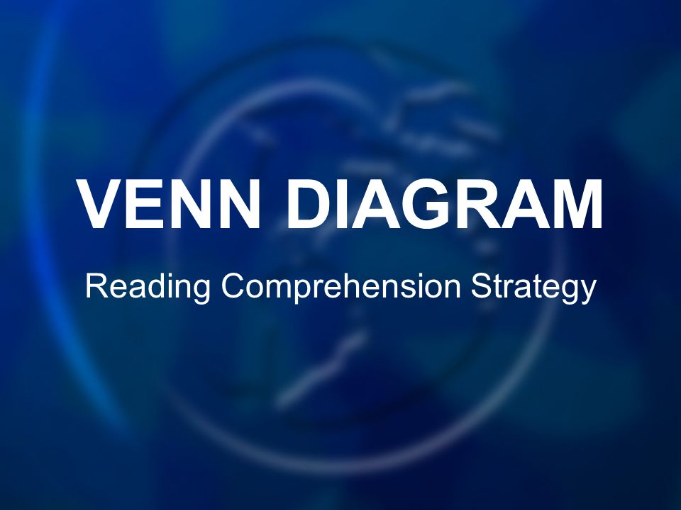 VENN DIAGRAM Reading Comprehension Strategy