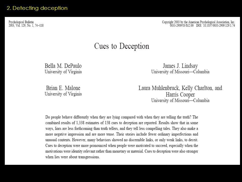 2. Detecting deception