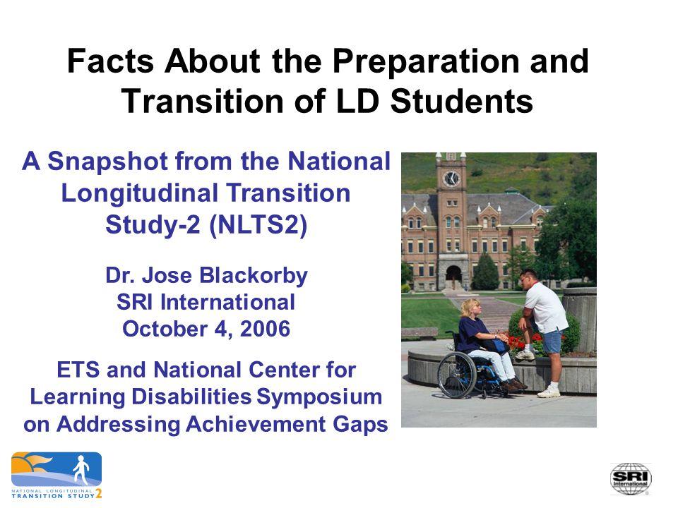 22 Source: NLTS2 Wave 1 Student's School Program Survey.