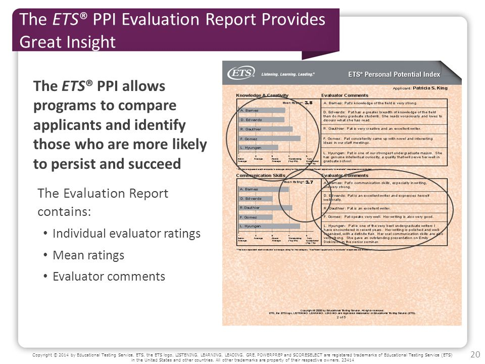Copyright © 2014 by Educational Testing Service. ETS, the ETS logo, LISTENING.