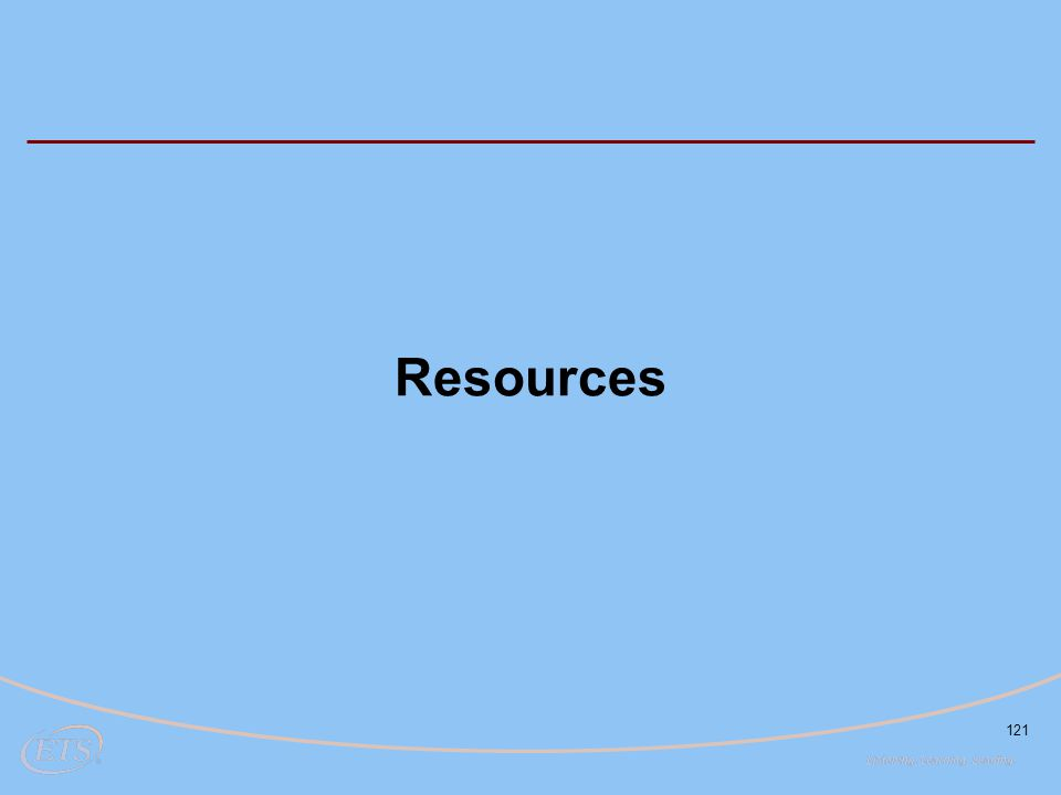 121 Resources