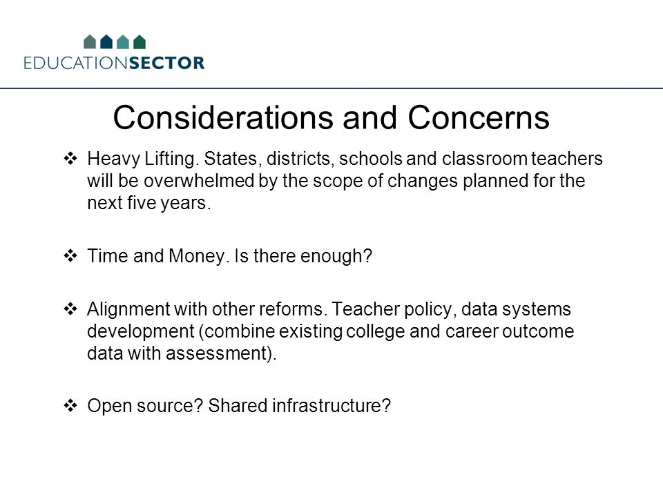 Considerations and Concerns  Heavy Lifting.