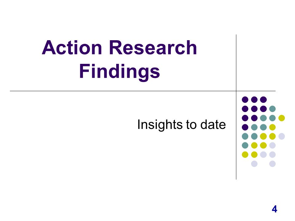 4 Action Research Findings Insights to date