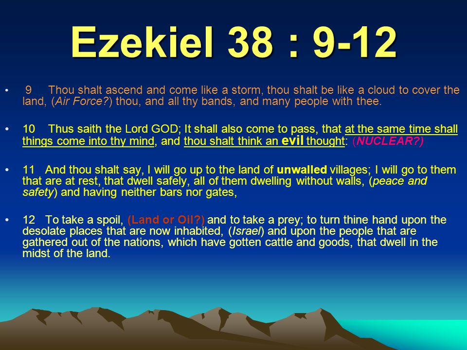 Rosh = Chief of Meshech It has been said that the only prophecy in the Bible that invokes a modern Gentile power by name is found in Ezekiel 38 and 39