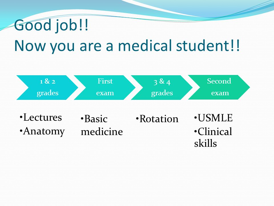 Good job!. Now you are a medical student!.