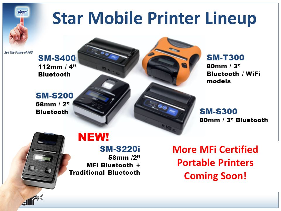 Star Mobile Printer Lineup SM-S400 112mm / 4 Bluetooth NEW.