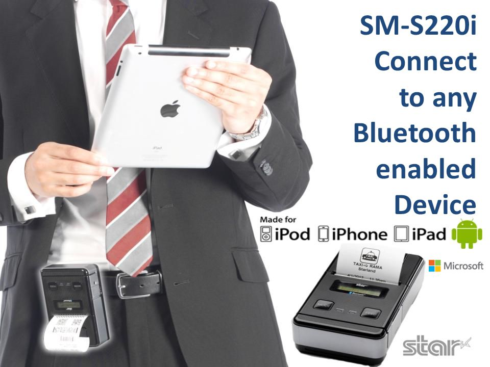 Apple MFi Certified Apple MFi certification allows the SM-S220i to connect with Apple iOS devices using Bluetooth.