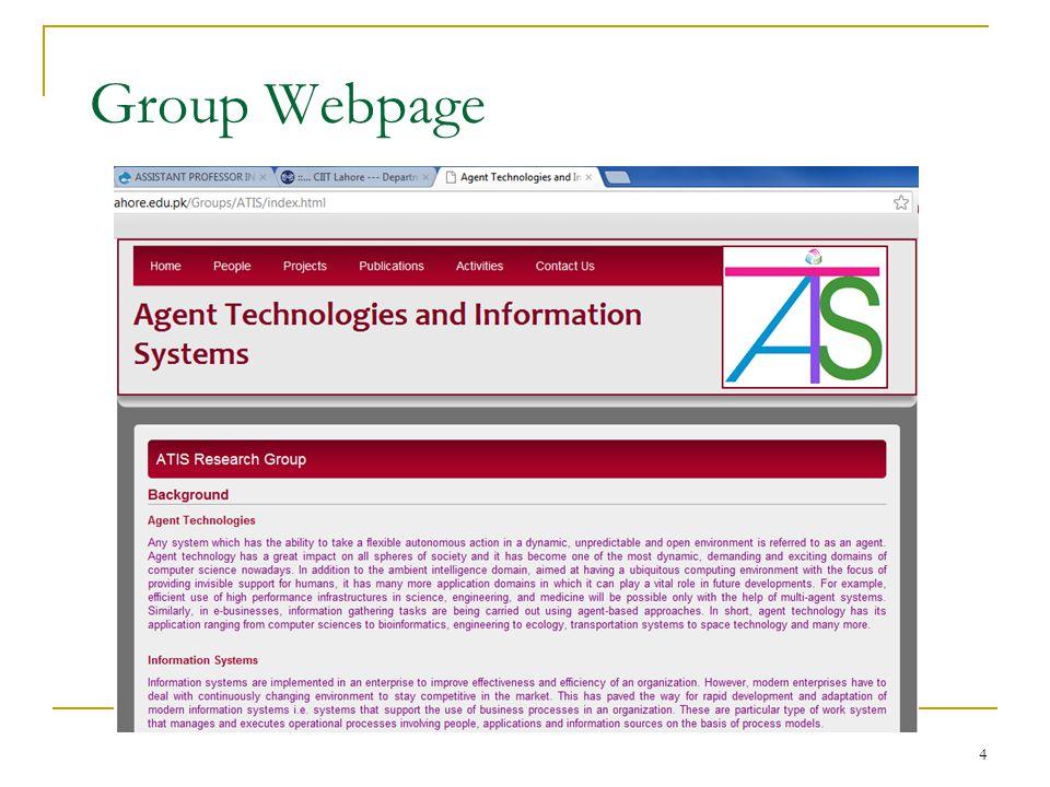 4 Group Webpage