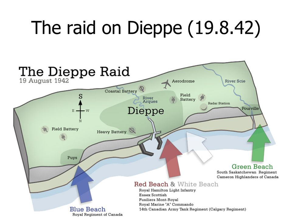 Lessons learned The Dieppe raid had a major influence on the planning for D Day.