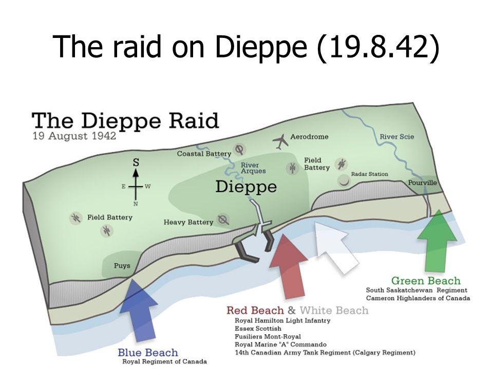 The raid on Dieppe (19.8.42)