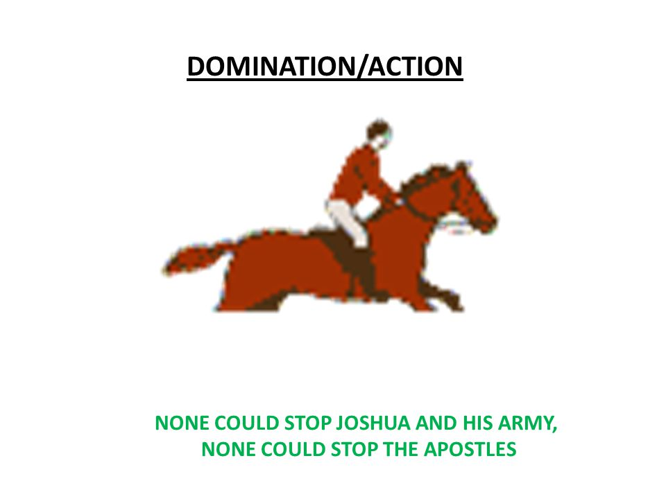Central and Southern Campaigns (Joshua: 6-10) DOMINATION/ACTION