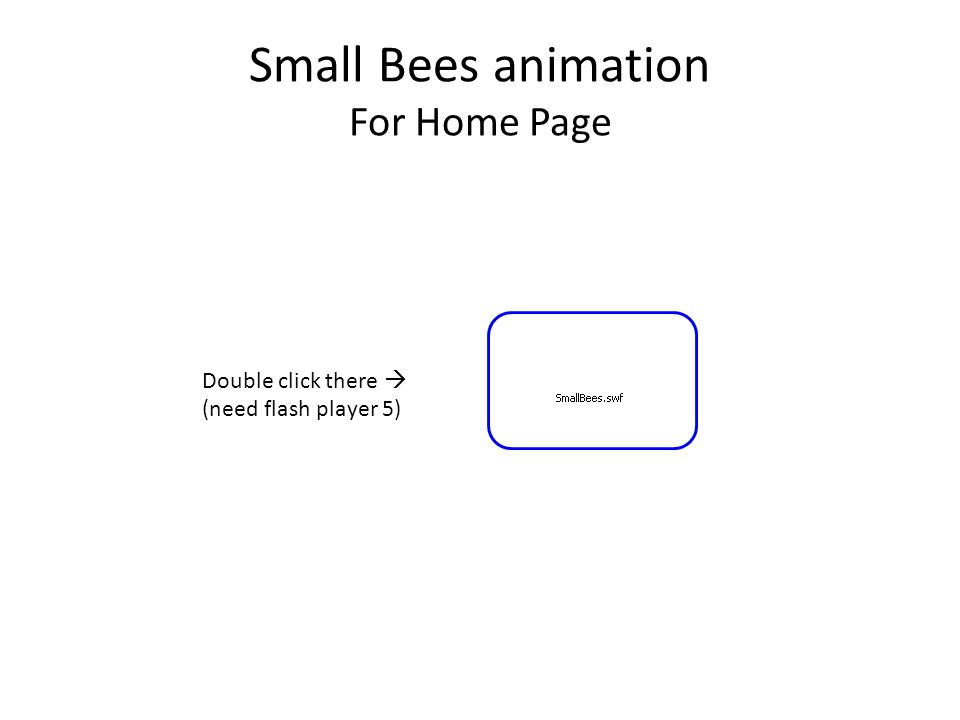 Small Bees animation For Home Page Double click there  (need flash player 5)