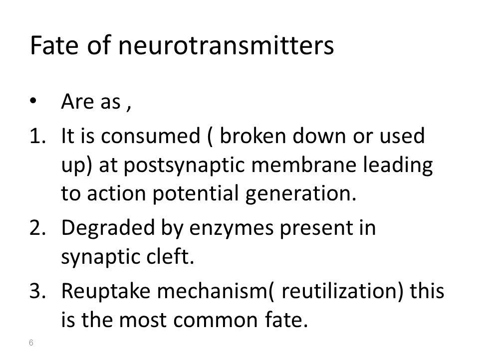 Types of responses on postsynaptic membrane Excitatory postsynaptic potential (EPSPs) It is caused by depolarization.