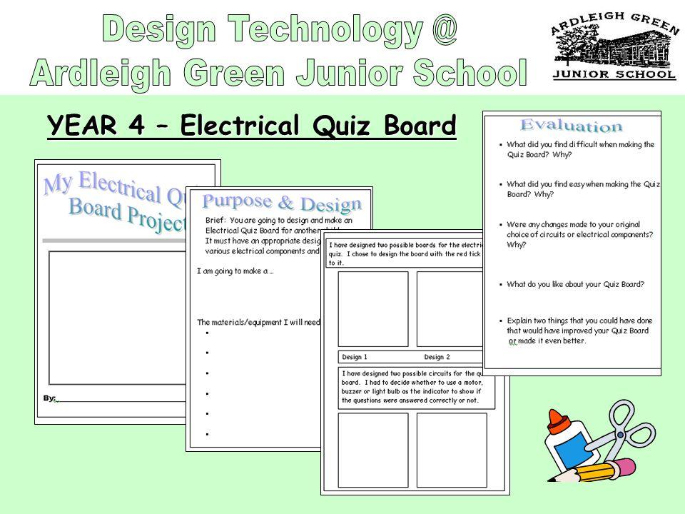 YEAR 4 – Electrical Quiz Board