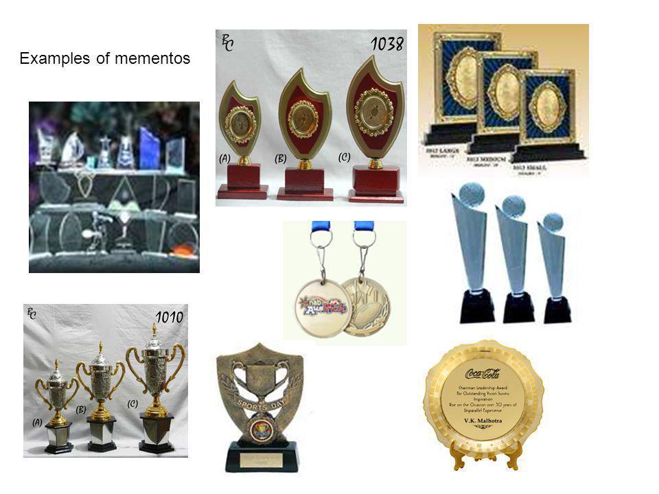 Examples of mementos