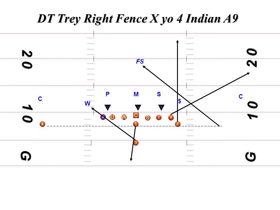 1 0 DT Trey Right Fence X yo 4 Indian A9 C S WU T Y X 3 R 1 Z 1 0 2 0 G MS W $ C C FS G P