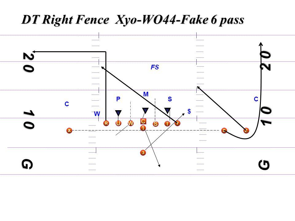 1 0 DT Right Fence Xyo-WO44-Fake 6 pass C S WU T Y X 3 R 1 Z 1 0 2 0 G M S W $ C C FS G P X