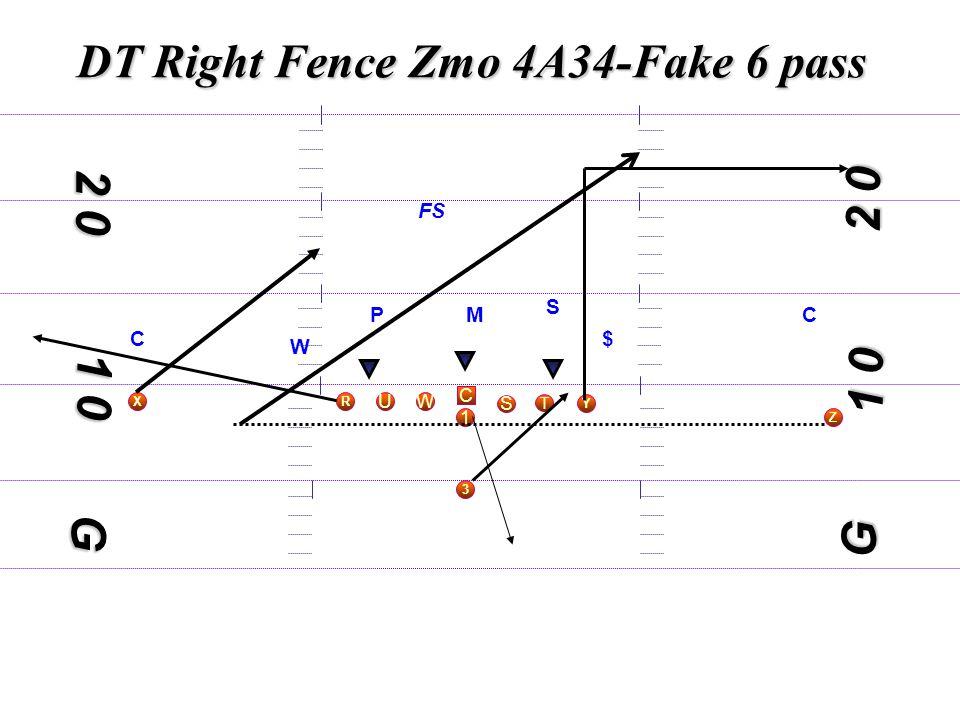 1 0 C S WU T Y X 3 R 1 Z 2 0 G M S W $C C FS G P DT Right Fence Zmo 4A34-Fake 6 pass