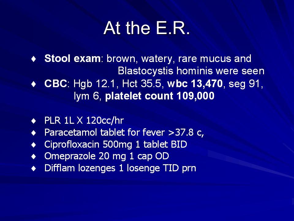 At the E.R.