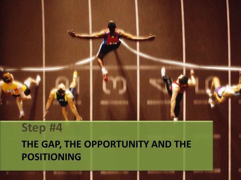 THE GAP, THE OPPORTUNITY AND THE POSITIONING Step #4