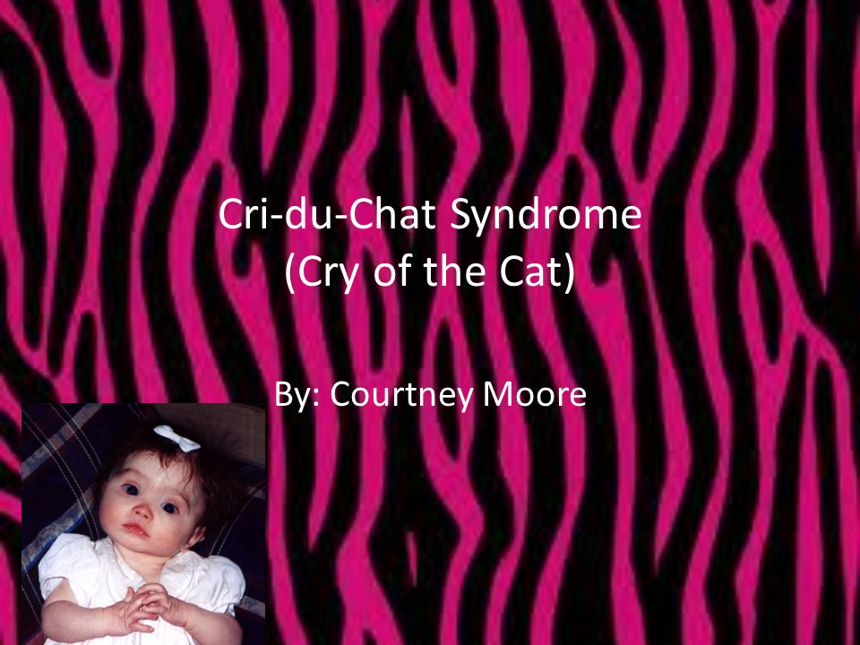 Cri-du-Chat Syndrome (Cry of the Cat) By: Courtney Moore