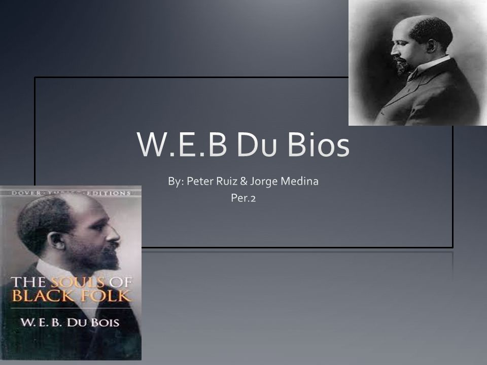 Who is W.E.B.Du Bois. W.E.B.