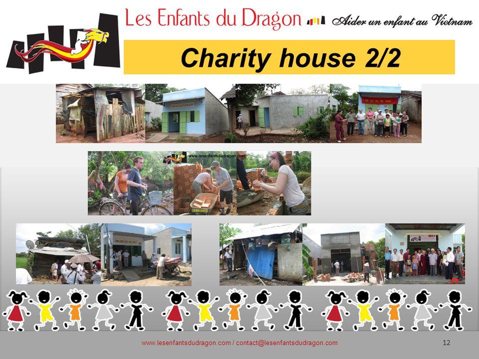 Charity house 2/2 www.lesenfantsdudragon.com / contact@lesenfantsdudragon.com 12