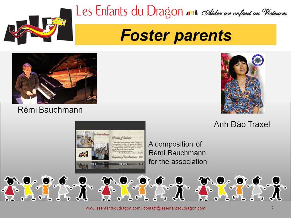 Foster parents www.lesenfantsdudragon.com / contact@lesenfantsdudragon.com 7 A composition of Rémi Bauchmann for the association Anh Đào Traxel Rémi Bauchmann