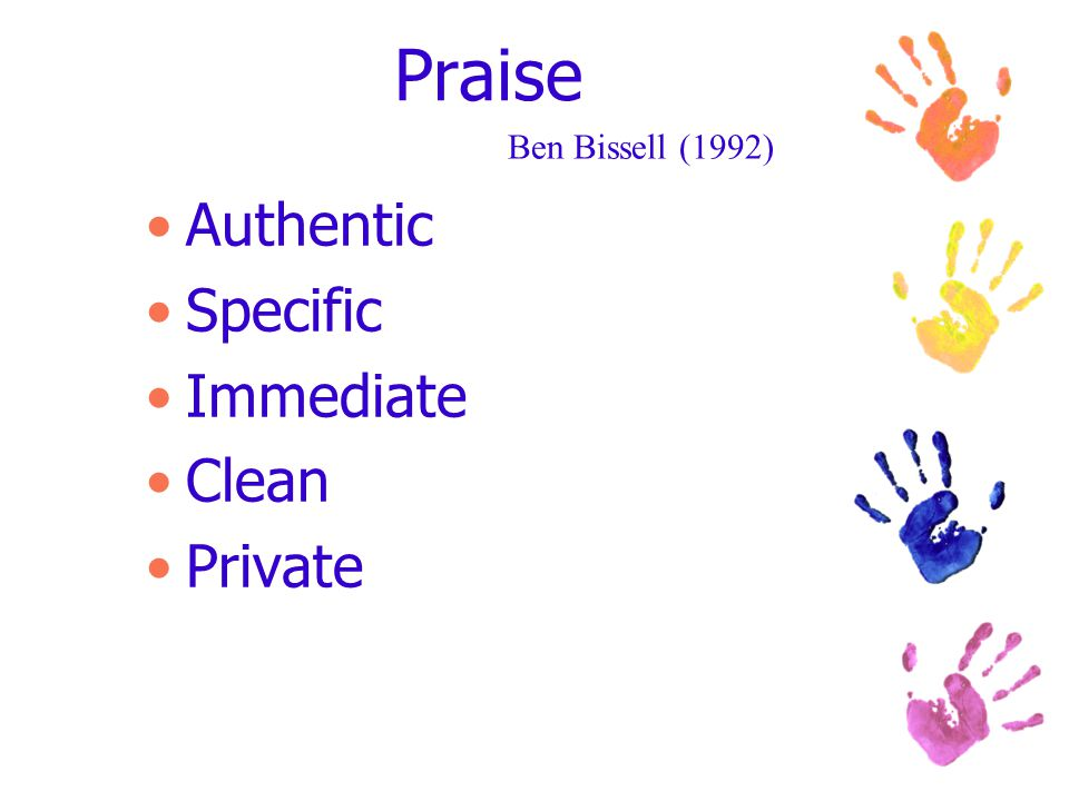 Praise Authentic Specific Immediate Clean Private Ben Bissell (1992)