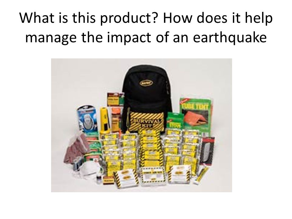 What is this product How does it help manage the impact of an earthquake