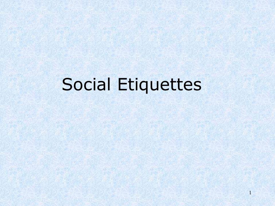 1 Social Etiquettes