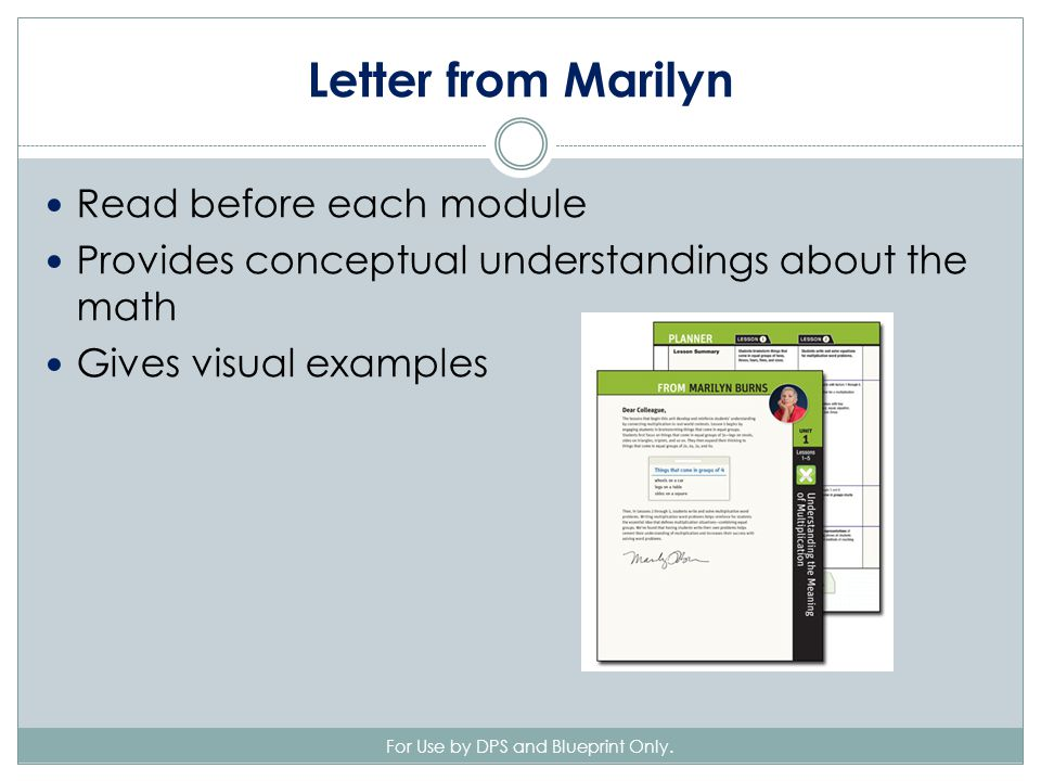 Letter from Marilyn For Use by DPS and Blueprint Only.