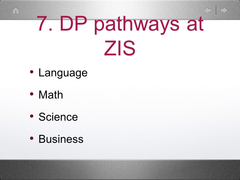 7. DP pathways at ZIS Language Math Science Business