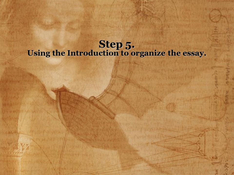Step 5. Using the Introduction to organize the essay.