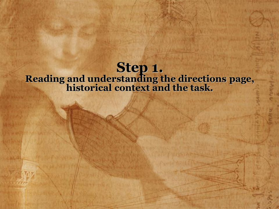 The Students must understand that they need to read the entire page of directions.