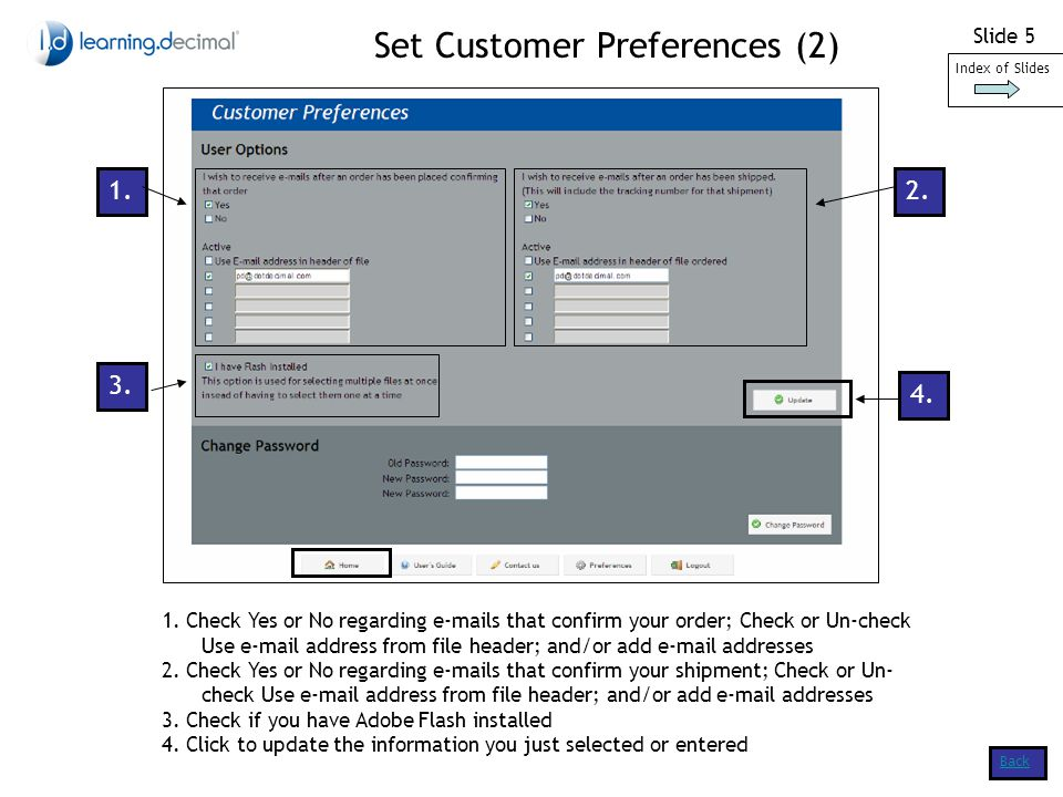 Slide 5 Set Customer Preferences (2)