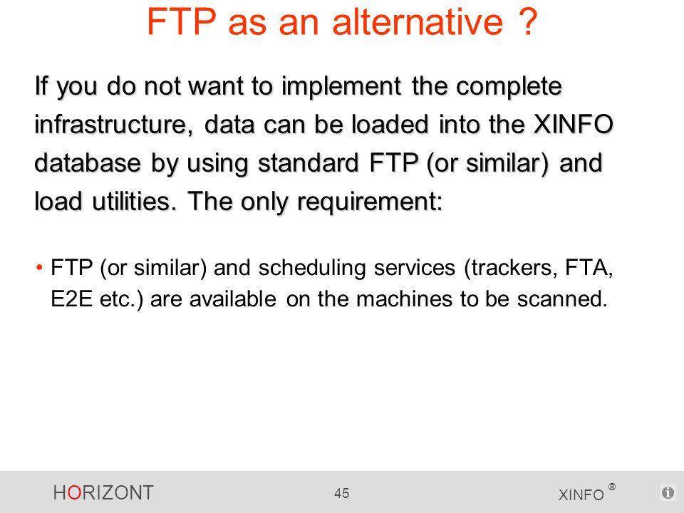 HORIZONT 45 XINFO ® FTP as an alternative .