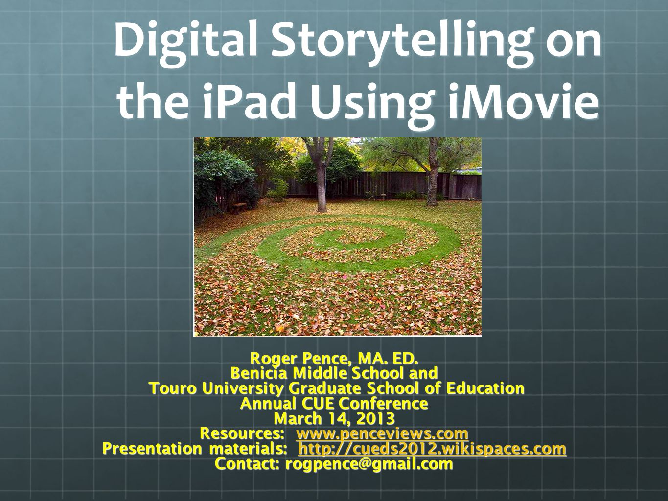 Resources iPad iMovie Tutorial (Youtube) iPad iMovie Tutorial (Youtube) http://cueds2012.wikispaces.com