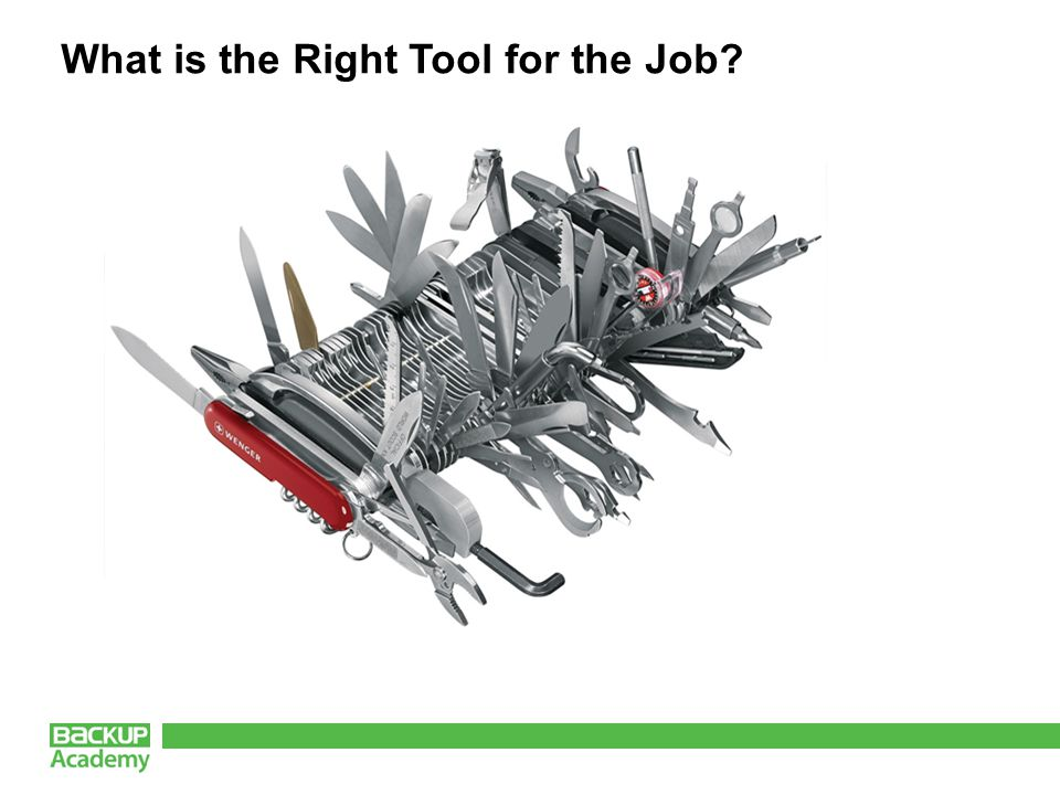 What is the Right Tool for the Job