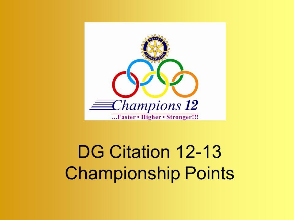 DG Citation 12-13 Championship Points