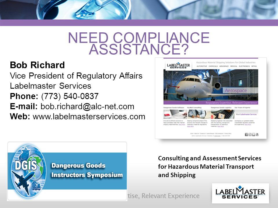 NEED COMPLIANCE ASSISTANCE.