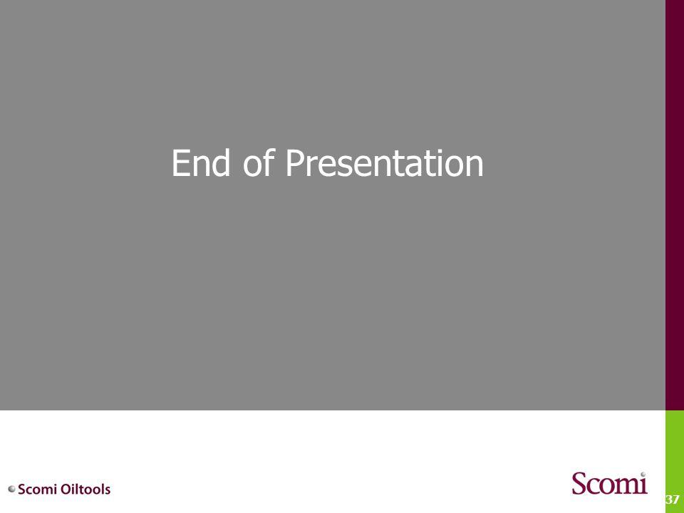 37 End of Presentation