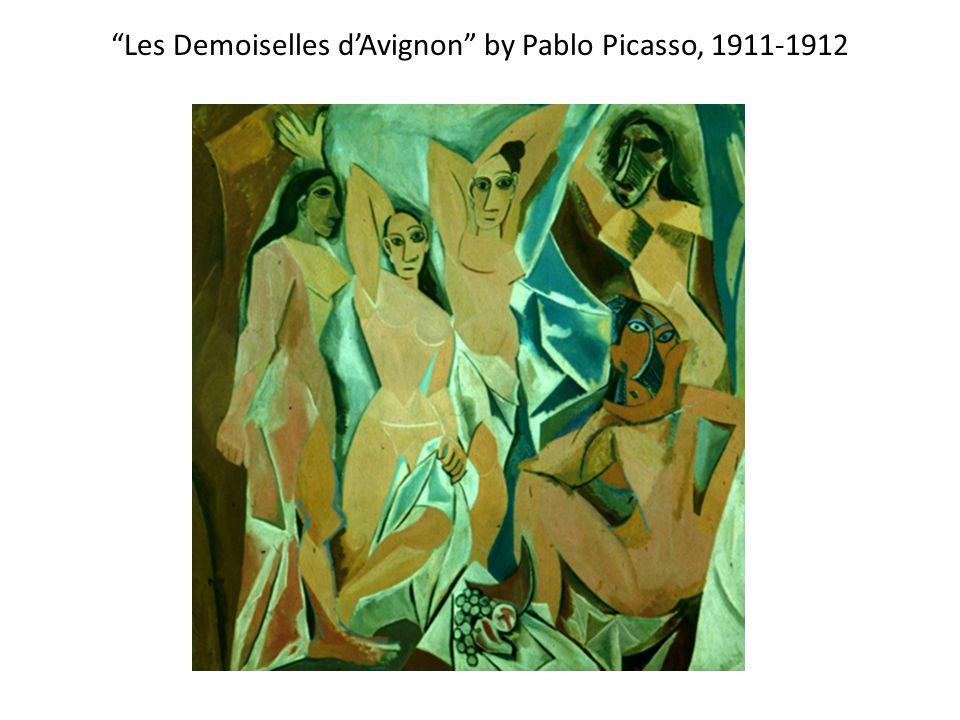 Les Demoiselles d'Avignon by Pablo Picasso, 1911-1912