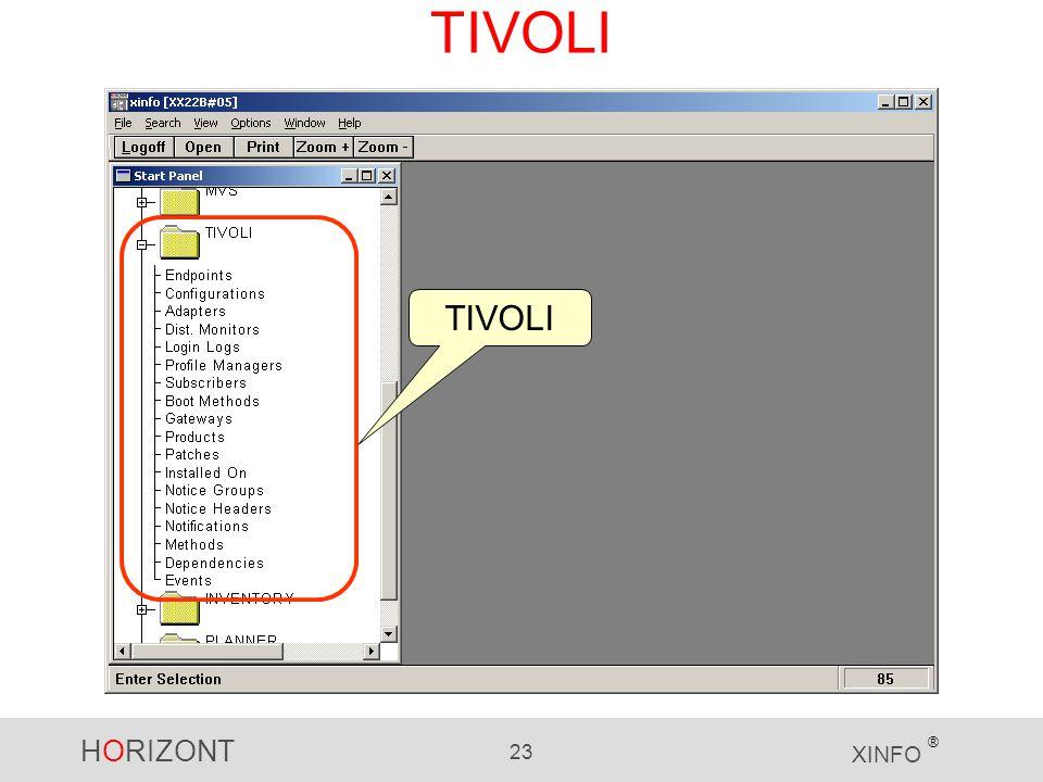 HORIZONT 23 XINFO ® TIVOLI