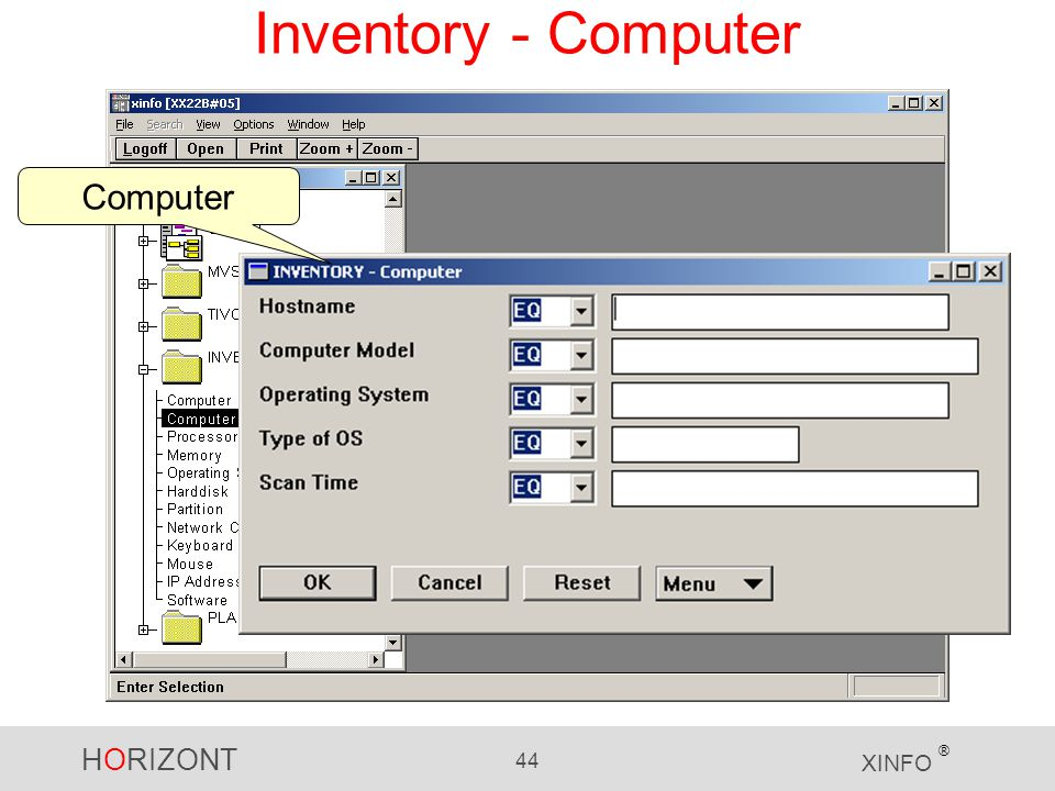 HORIZONT 44 XINFO ® Inventory - Computer Computer