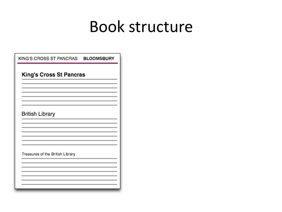 Book structure